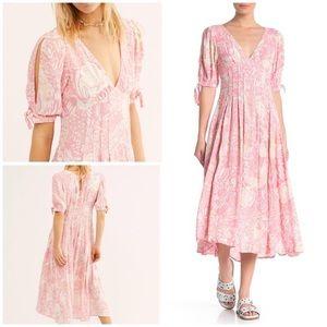 NEW Pink Free People Midi Dress